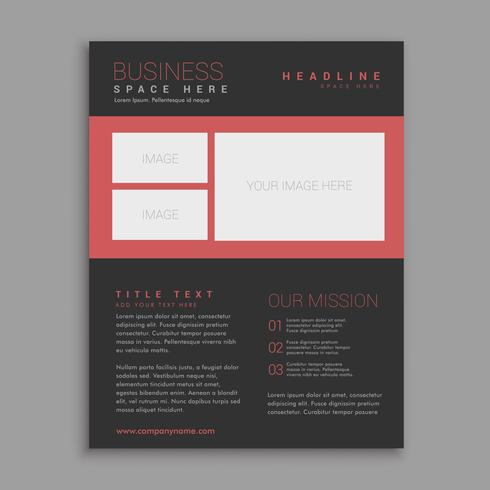 black brochure design vector template