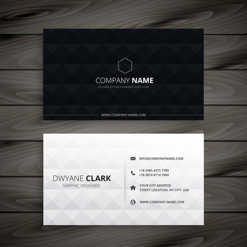 eenvoudig zwart en wit diamanten visitekaartje
