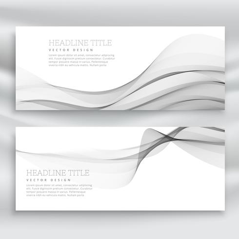 amazing set of gray wave banners template