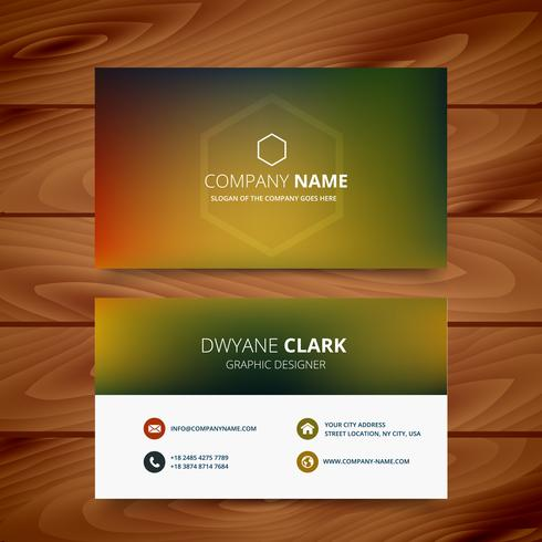 clean colorful background business card template