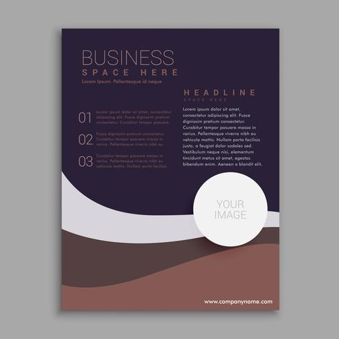 amazing brown and purple business brochure in A4 size