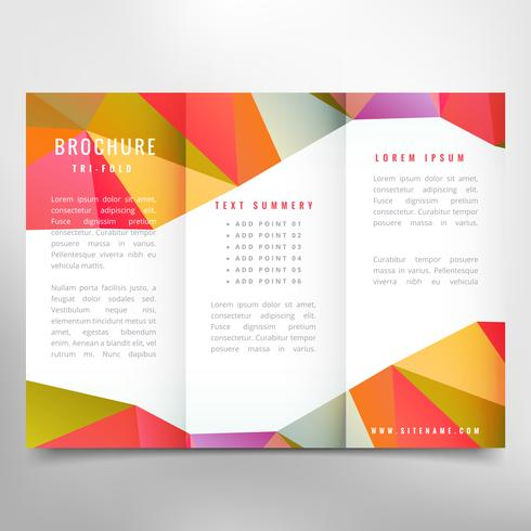 colorful trifold brochure design download free vector art stock