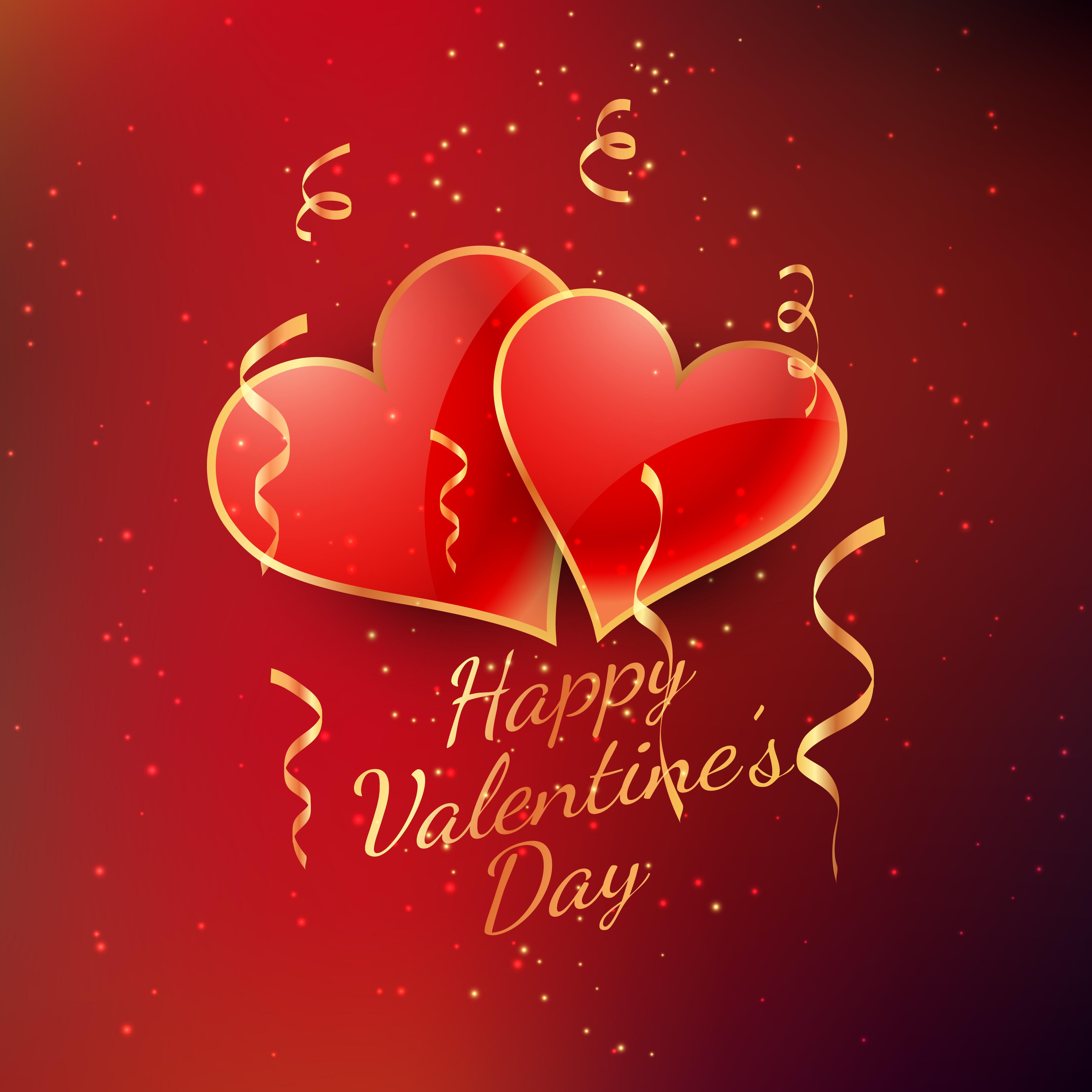 Valentine Day: Valentines Day Celebration Card Vector Design Illustration