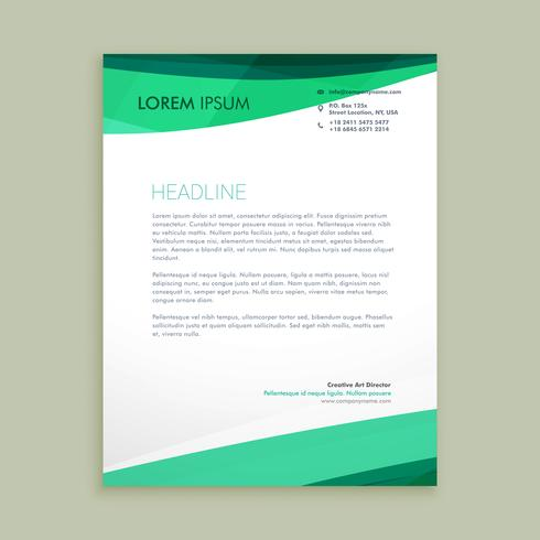stylish wave letterhead  template vector design illustration