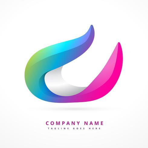 modelo de design de forma de logotipo colorido
