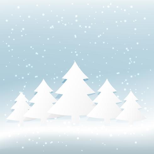 árvore de natal no fundo nevado