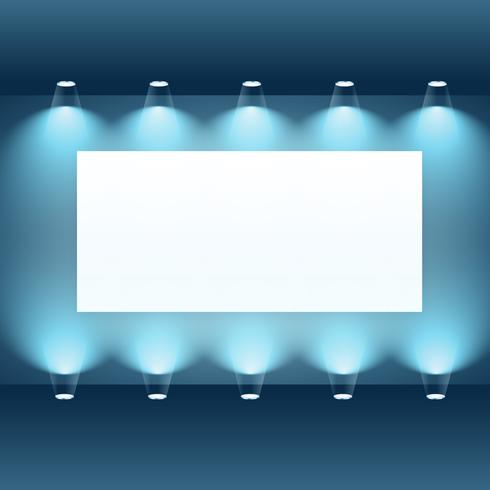 presentation board with spot lights