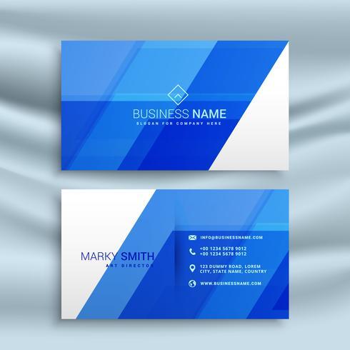elegant blått visitkort stationär mall design