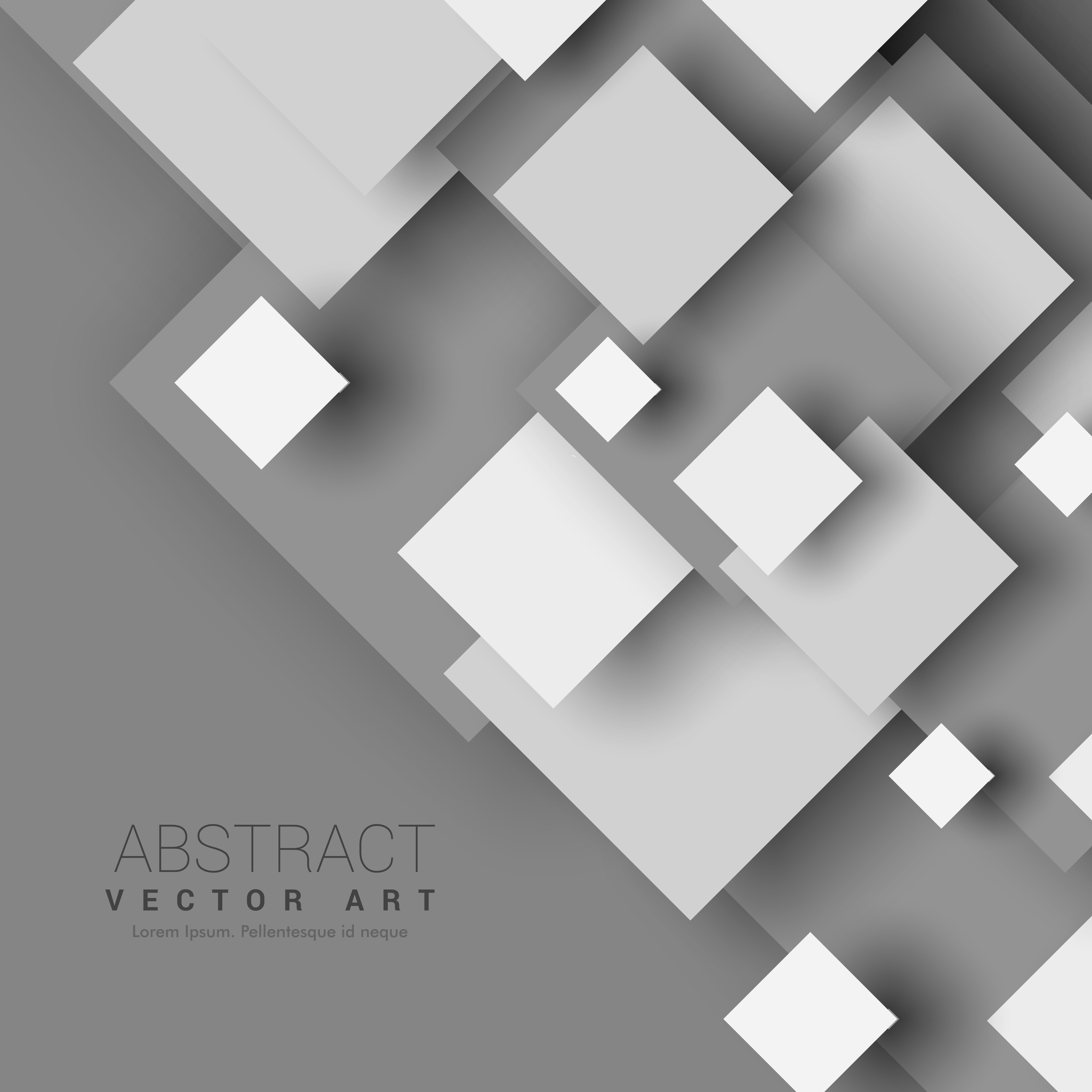 abstract 3d geometric shapes with shadow effect - download free