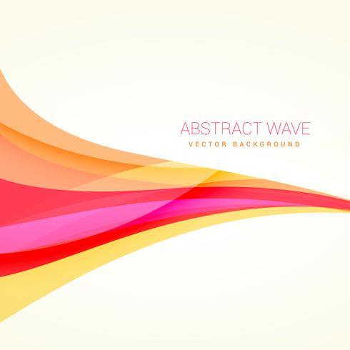 clean colorful wave background design illustration