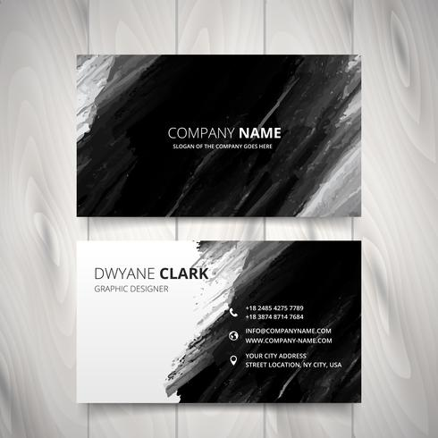 dark black watercolor business card vector design illustration