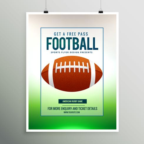 rugby football game flyer template download free vector art stock