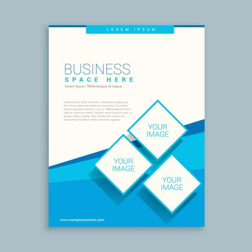 Abstract Business Brochure Design In Blue White Colors  Download