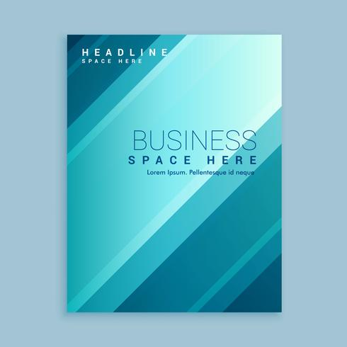 business brochure template with blue stripes
