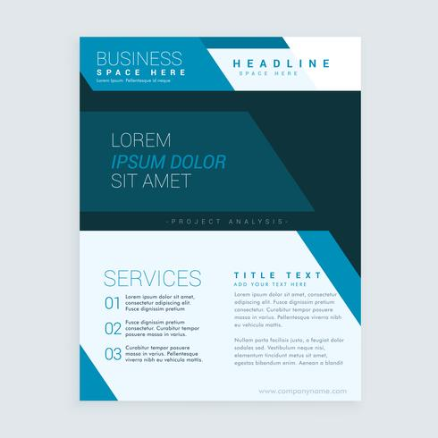 Blue Geometric Brochure Flyer Design Template For Your Business