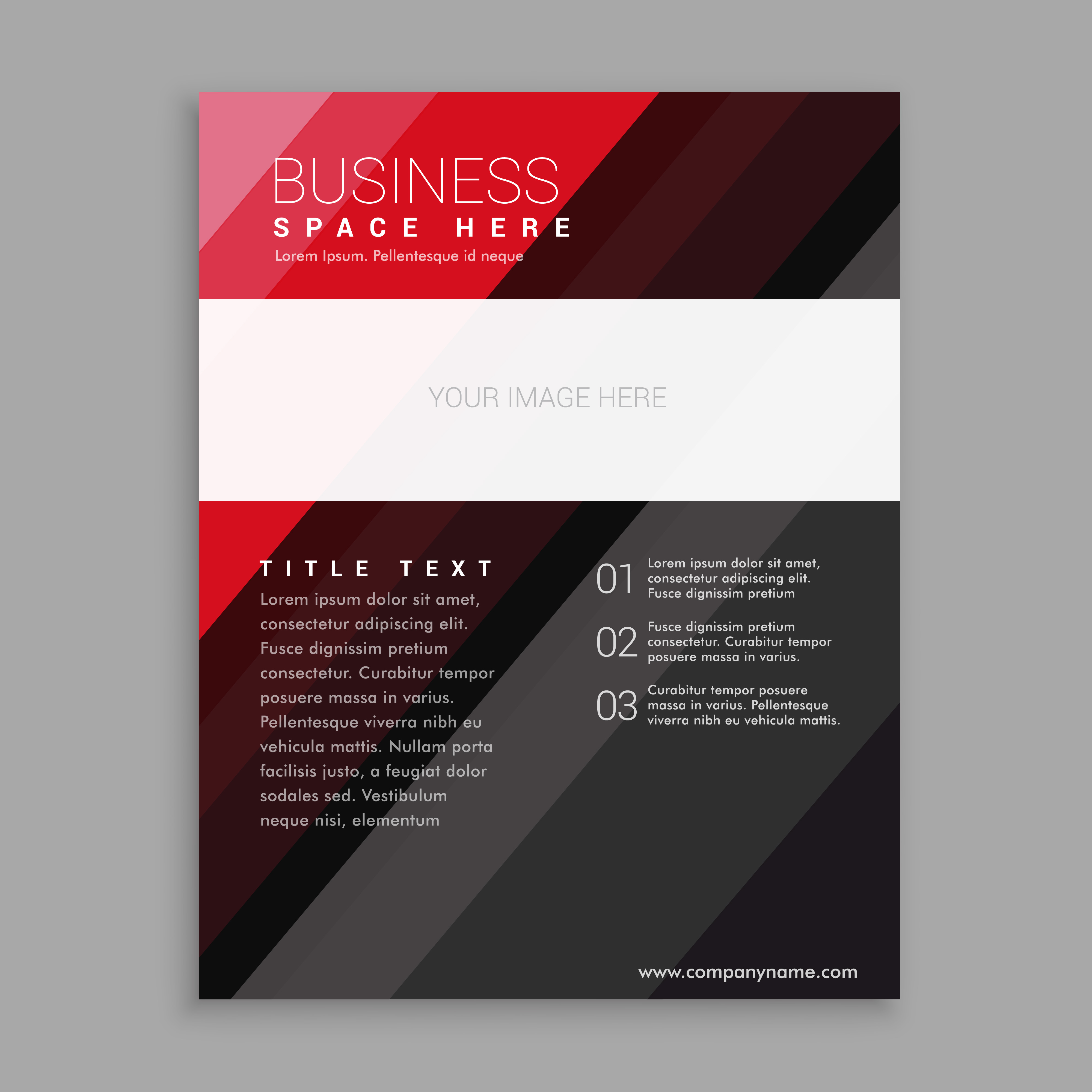 elegant brochure templates - elegant red and black business flyer brochure design
