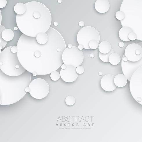 3D-cirkels abstracte achtergrond