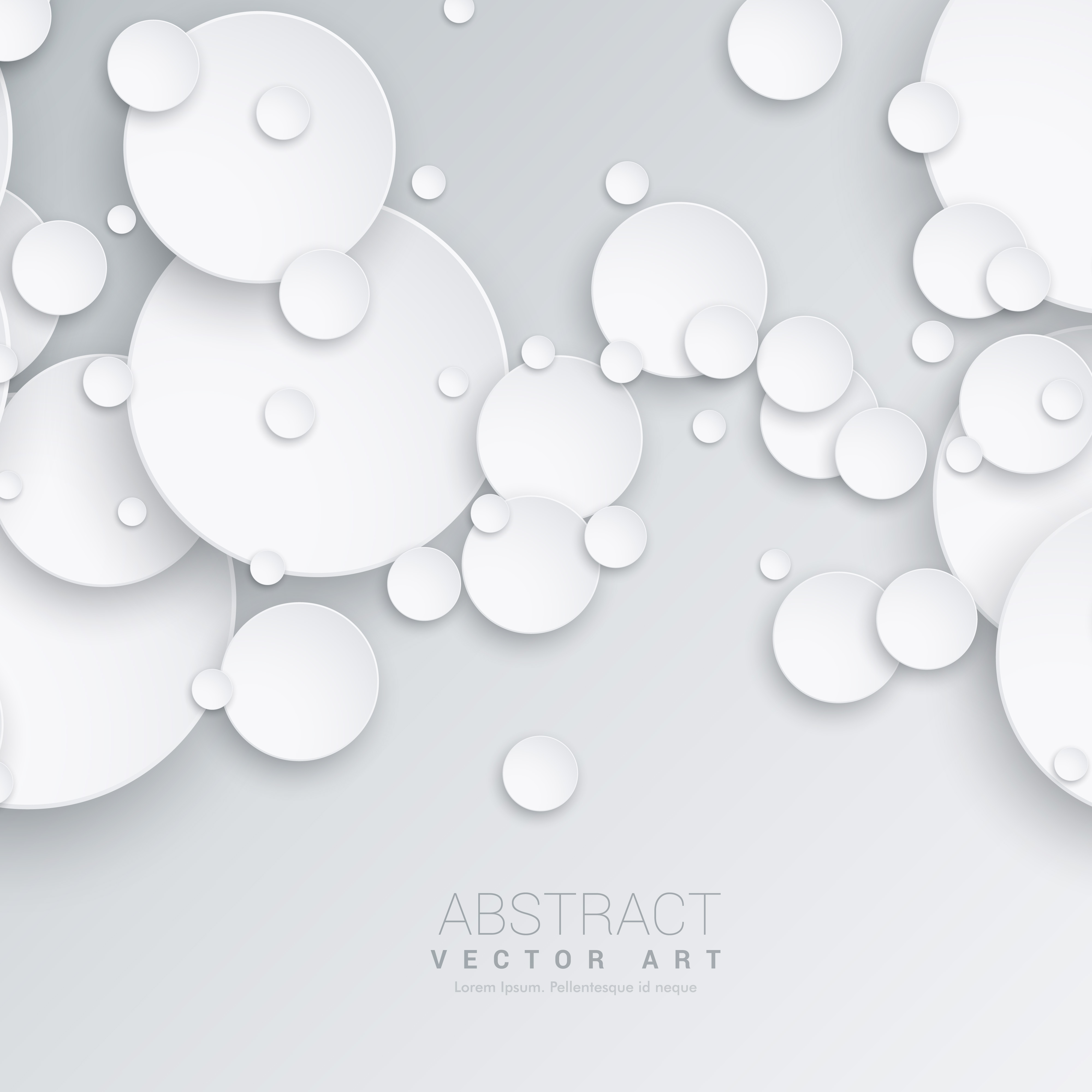 3d Circles Abstract Background
