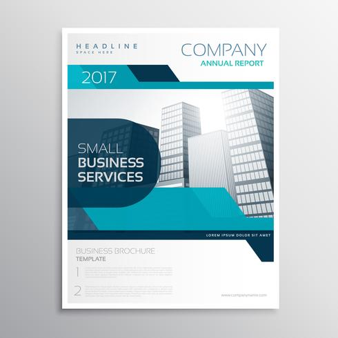 stylish blue business brochure creative design in size a4