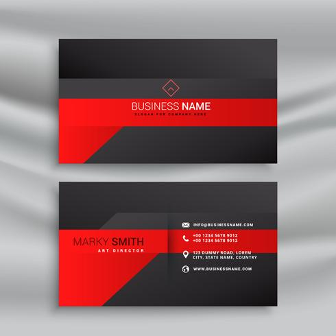 red and black modern business card design
