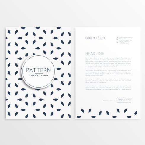 stylish letterhead design in minimal style