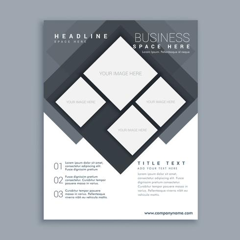 abstract business brochure template design in size A4
