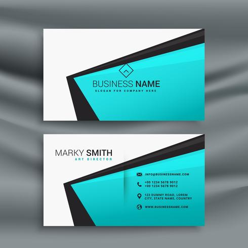Elegant Blue Business Card Design Template Download Free Vector - Business card design templates