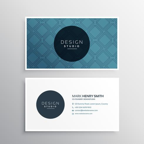 creative minimal business card template with geometric line shap