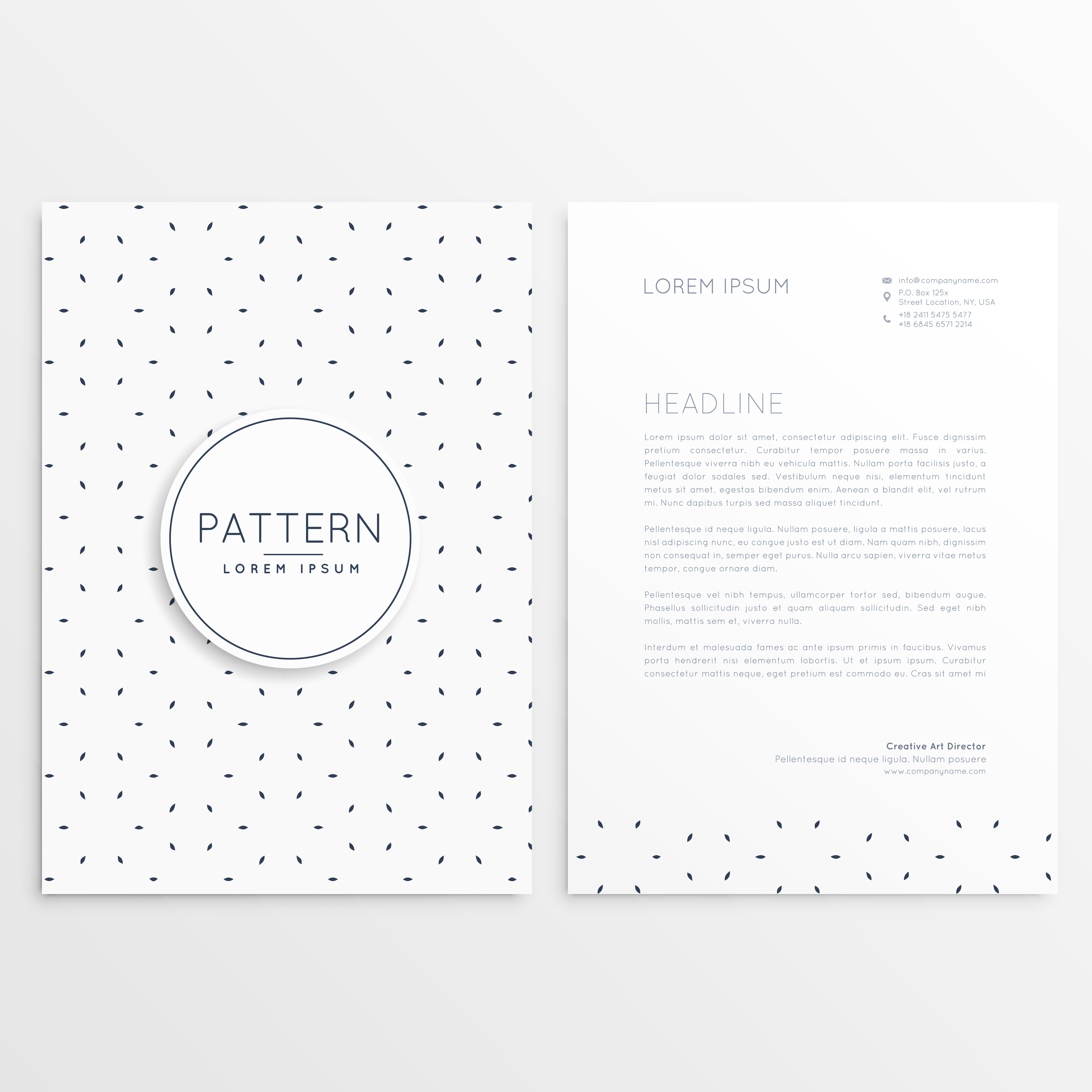 Clean Corporate Letterhead Template: Clean Minimal Letterhead Template