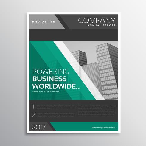 donkere zakelijke brochure sjabloonontwerp met diagonale lijnen