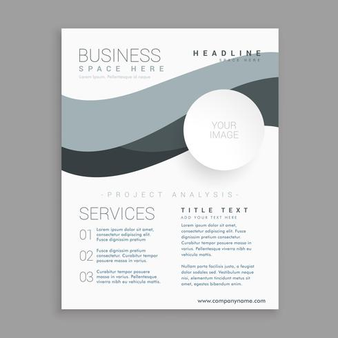 business brochure template in white color