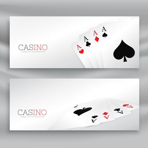 playing cards banner vector set
