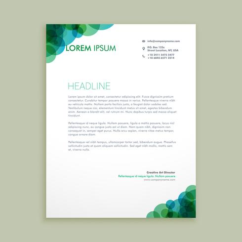 Creative Business Letterhead Identity Template Vector Design Ill