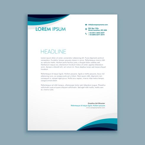 corporate identity letterhead template vector design illustratio