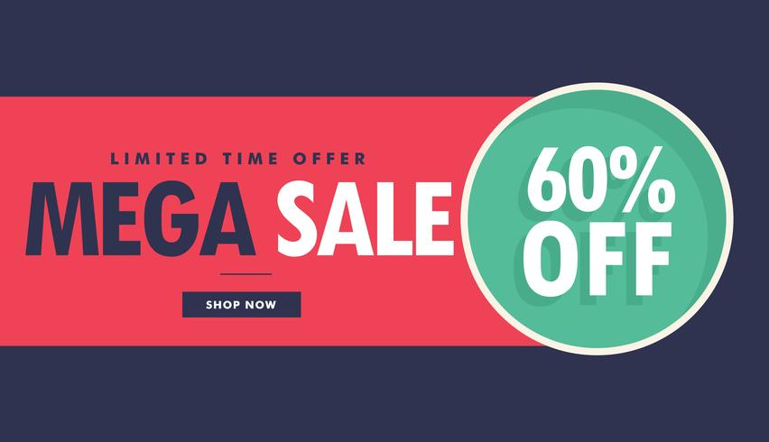 mega sale advertising voucher and banner design with offer detai