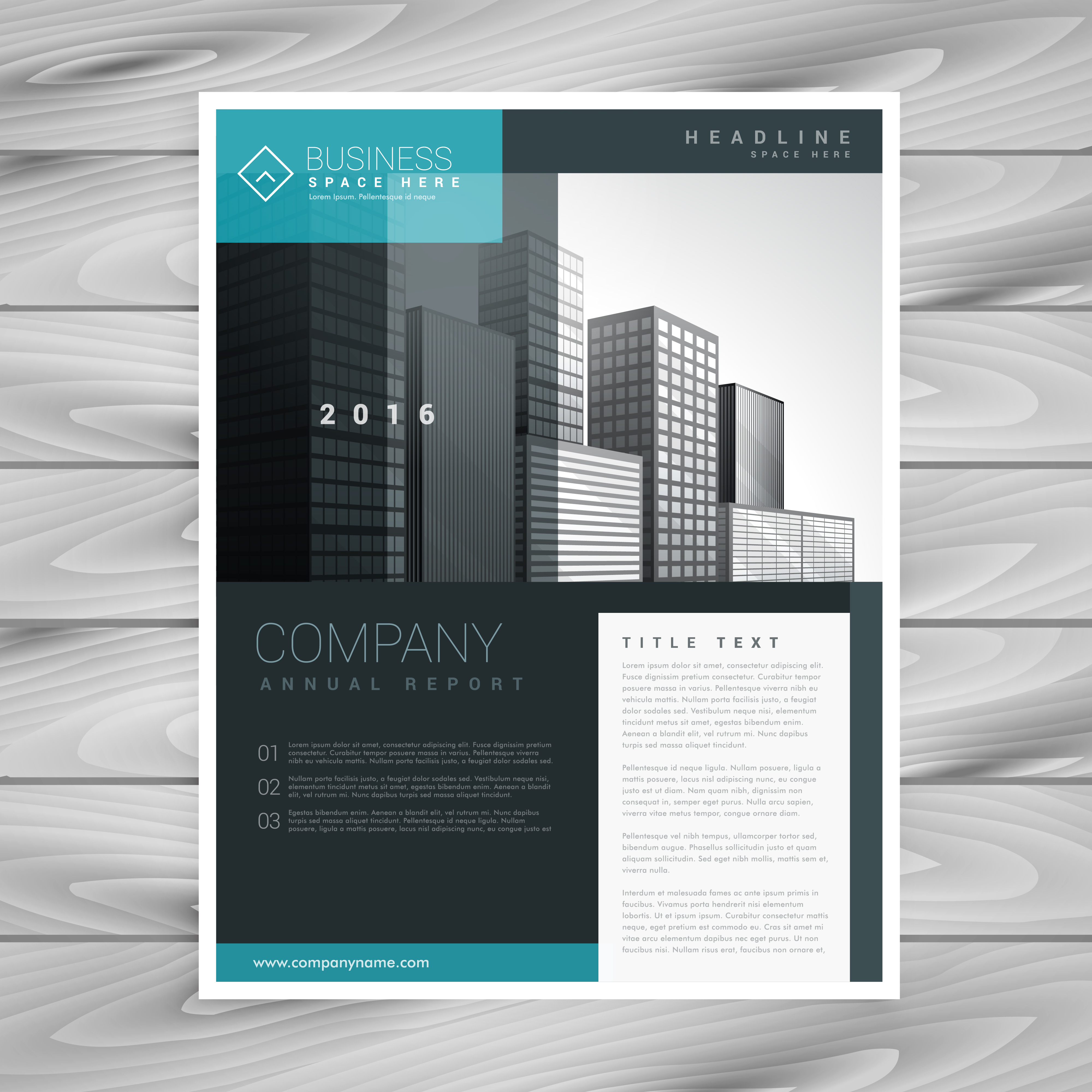 Stylish modern brochure design template download free for Modern brochure template