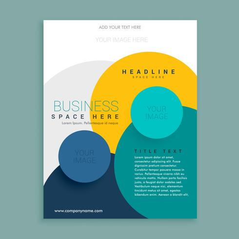 colorful circle brochure design template design