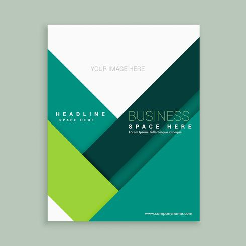 minimal brochure poster flyer template