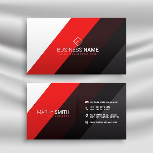 red and black minimal business card design