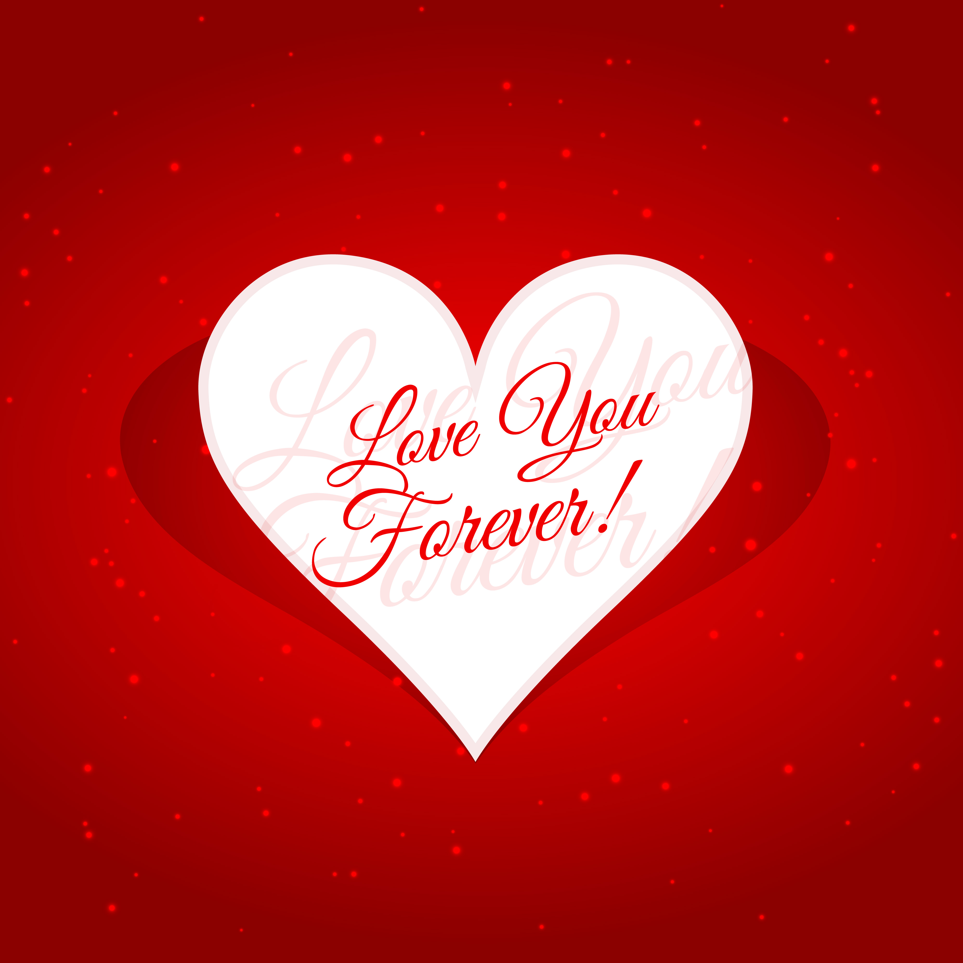 Love you forever message in heart vector design for Love in design