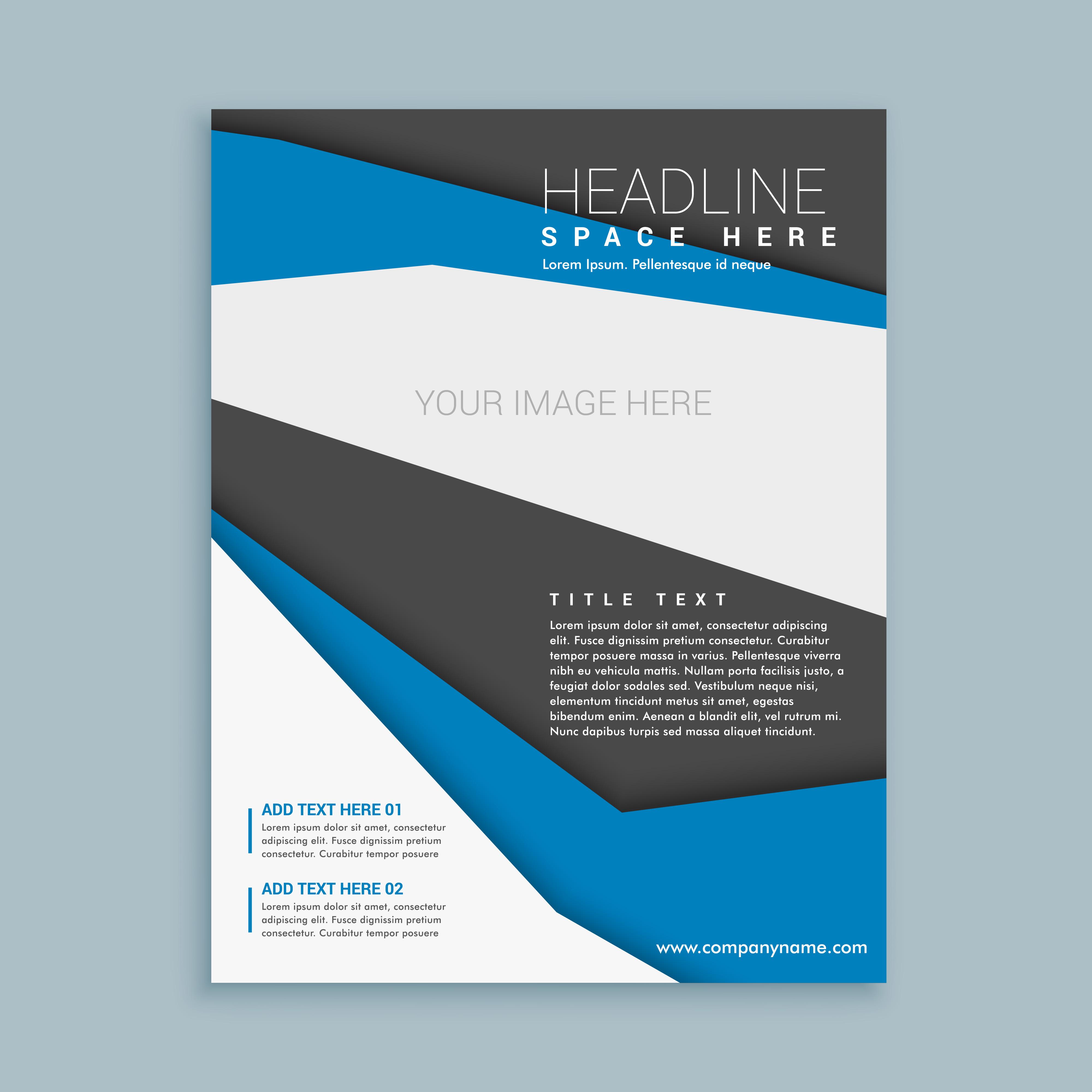 modern brochure flyer template