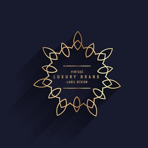 rótulo dourado de luxo