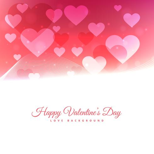 happy valentines day with floating hearts vector design illustra