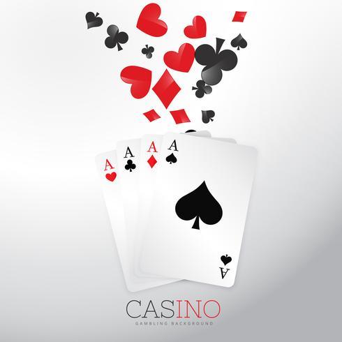 Fondo de casino con naipes y símbolo