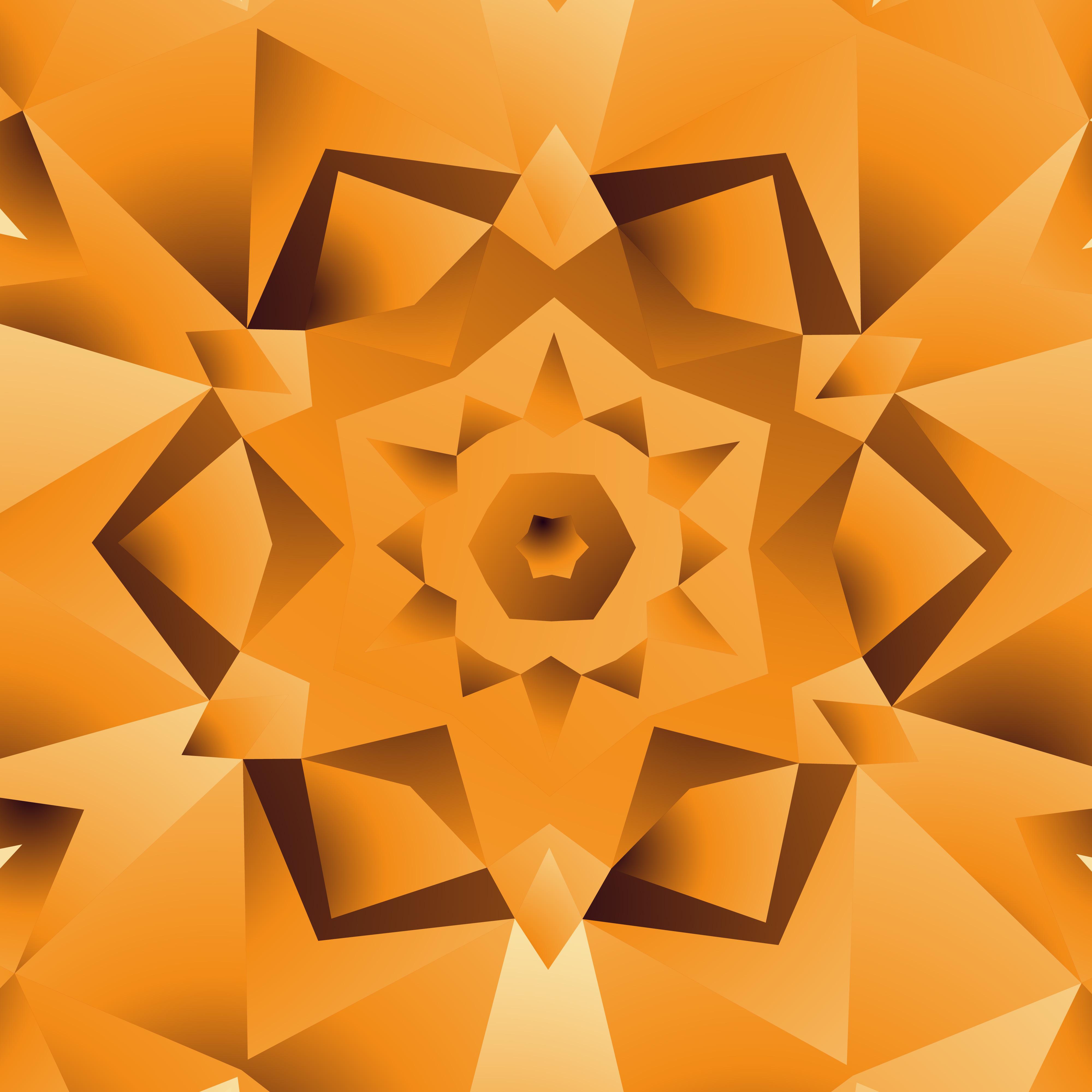 Abstract Orange Yellow Background Design Illustration