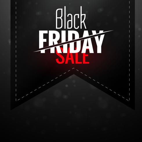 black friday dark sale ribbon label design