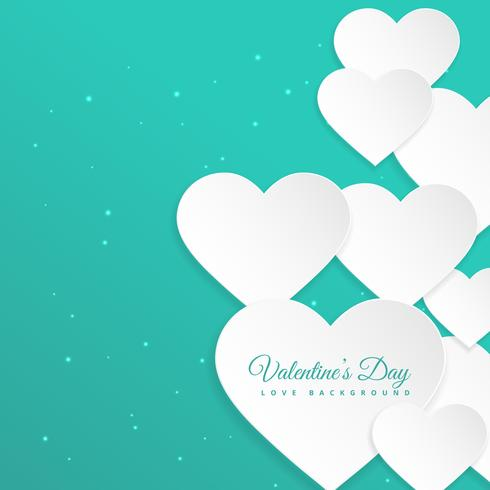 white hearts in blue background vector design illustration