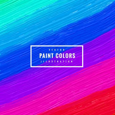 sfondo di tratti di vernice multi colore