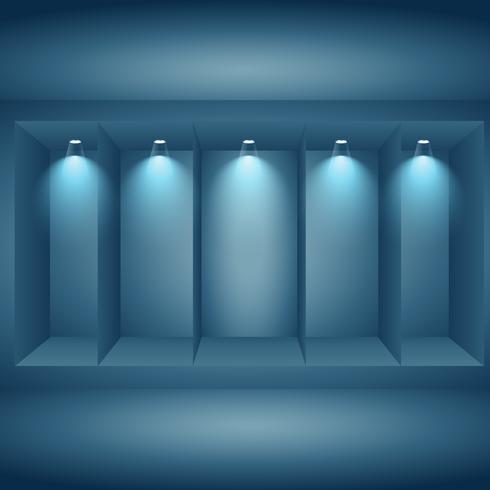 pantalla de presentación de pared