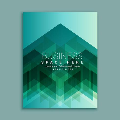 business magazine cover page with abstract shapes